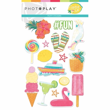 PhotoPlay SQUEEZE IN SOME FUN Puffy Stickers sqf9329