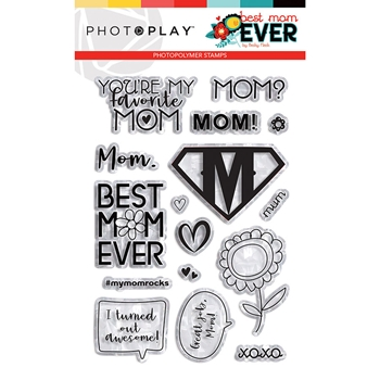 PhotoPlay BEST MOM EVER Clear Stamps bme9364