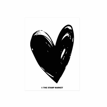The Stamp Market PAINTED HEART Clear Stamp Set tsm079