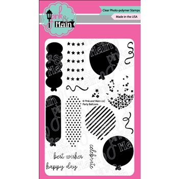 Pink and Main PARTY BALLOONS Clear Stamps PM0331