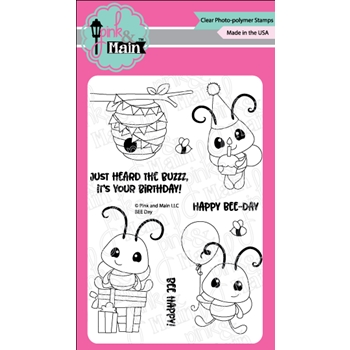 Pink and Main BEE DAY Clear Stamps PM0327
