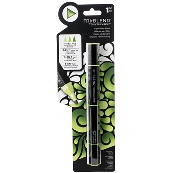 Crafter's Companion LIGHT GREEN BLEND Spectrum Noir TriBlend Marker sn-tble-lgbl