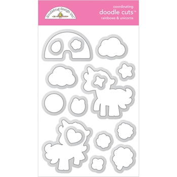 Doodlebug RAINBOWS AND UNICORNS Doodle Cuts Dies 6330