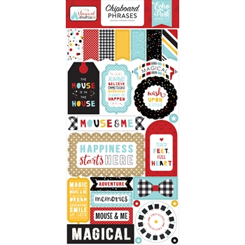 Echo Park MAGICAL ADVENTURE 2 Chipboard Phrases mag177022