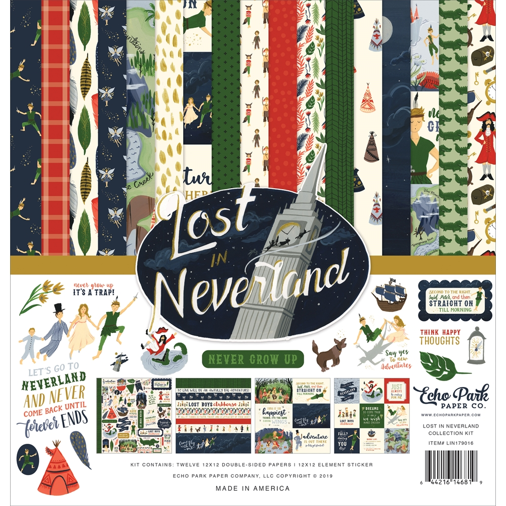 Echo Park LOST IN NEVERLAND 12 x 12 Collection Kit lin179016 zoom image