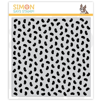 Simon Says Cling Rubber Stamp JELLYBEANS BACKGROUND sss101993