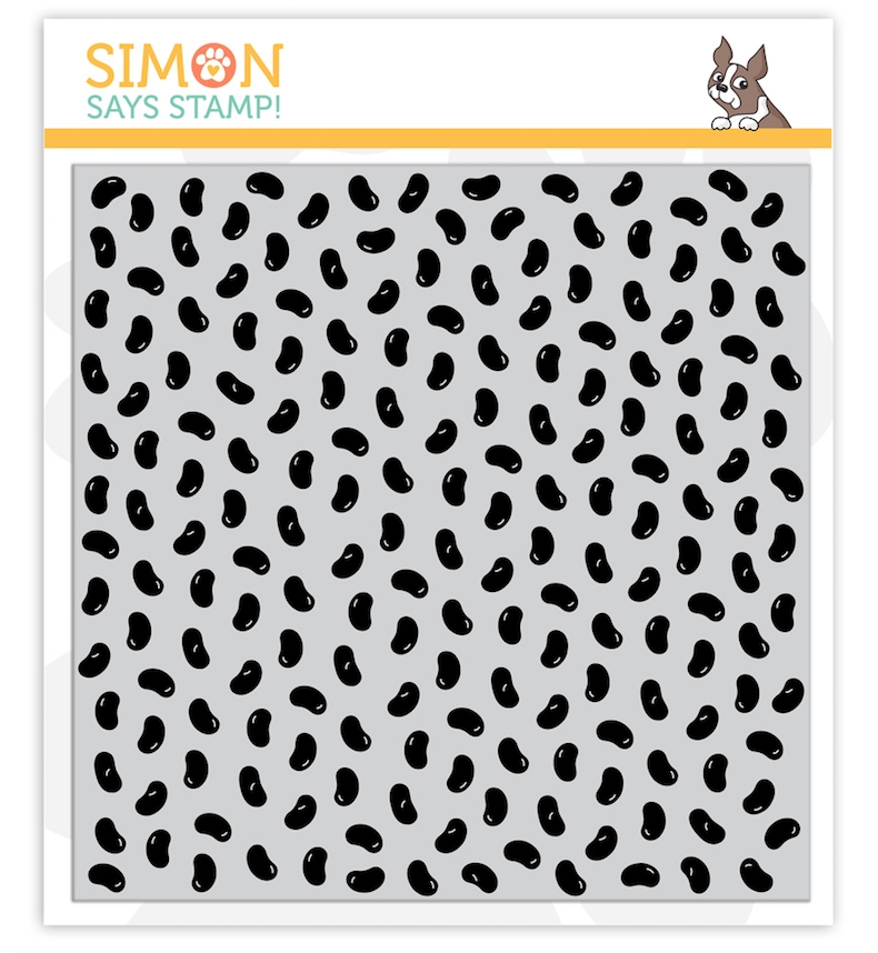 Simon Says Cling Rubber Stamp JELLYBEANS BACKGROUND sss101993 zoom image