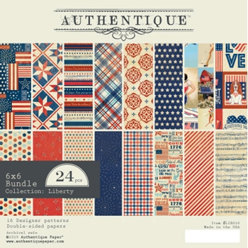 Authentique 6 x 6 LIBERTY Paper Pad lib010