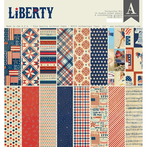 Authentique LIBERTY 12 x 12 Collection Kit lib011 Preview Image