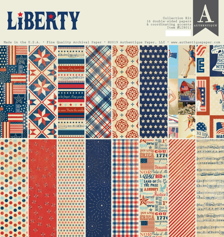 Authentique LIBERTY 12 x 12 Collection Kit lib011 zoom image