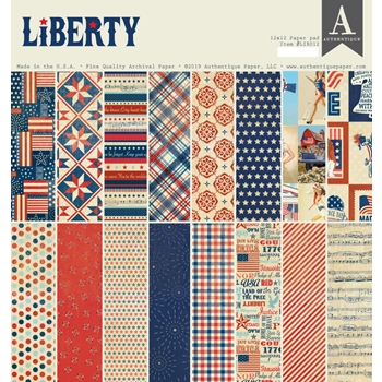 Authentique LIBERTY 12 x 12 Paper Pad lib012