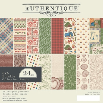 Authentique 6 x 6 RUSTIC Paper Pad rus010