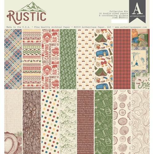 Authentique RUSTIC 12 x 12 Collection Kit rus011 Preview Image
