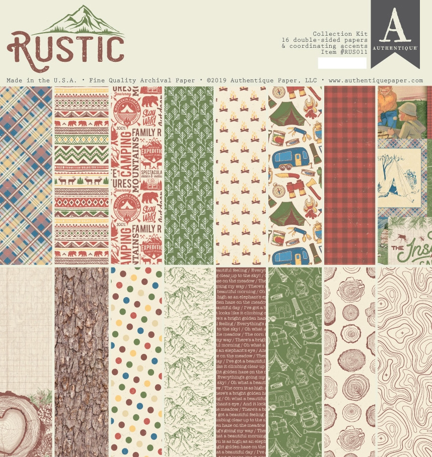 Authentique RUSTIC 12 x 12 Collection Kit rus011* zoom image
