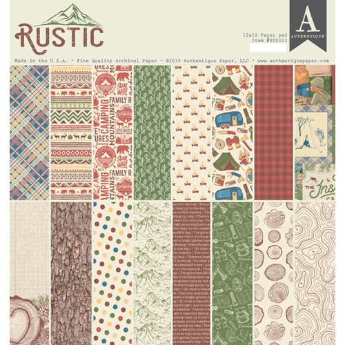 Authentique RUSTIC 12 x 12 Paper Pad rus012 Preview Image