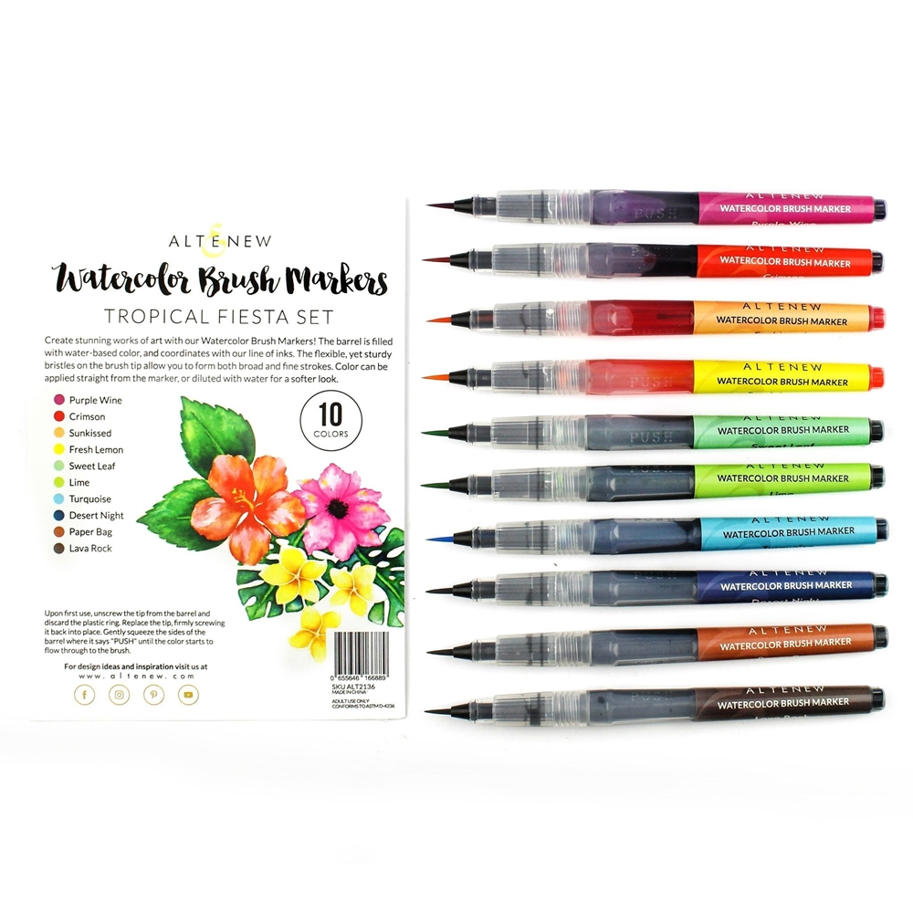 Altenew Watercolor Brush Markers TROPICAL FIESTA SET ALT2136 zoom image