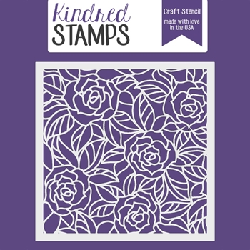Kindred Stamps STAINED GLASS ROSES Stencil 6253852