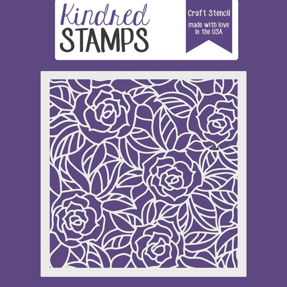 Kindred Stamps STAINED GLASS ROSES Stencil 6253852 zoom image