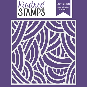 Kindred Stamps LONG HAIR Stencil 23029276