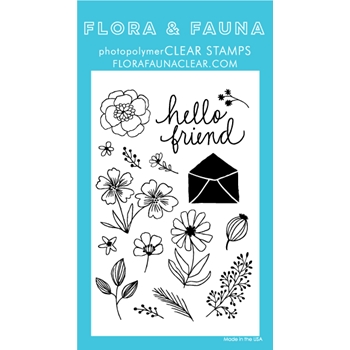 Flora and Fauna FLOWER GARDEN Clear Stamps 20229*
