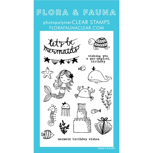 Flora and Fauna MERMAID BIRTHDAY PARTY Clear Stamps 20236 Preview Image