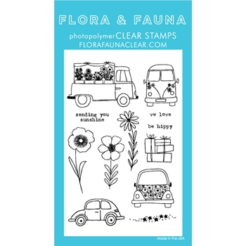 Flora and Fauna CAR GARDEN Clear Stamps 20230*