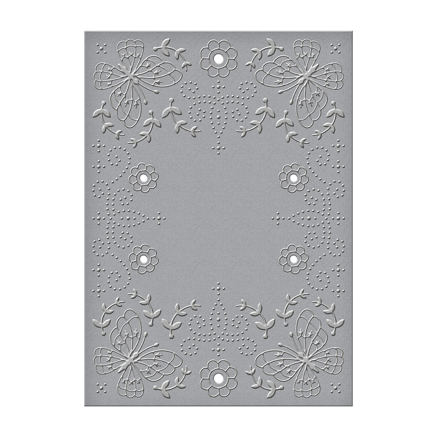 CEF-014 Spellbinders FLORA AND FAUNA Cut and Emboss Folder zoom image
