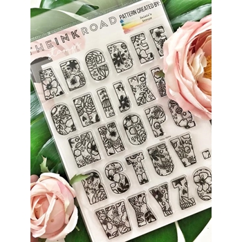 The Ink Road DAISIE ALPHA Clear Stamp Set inkr053
