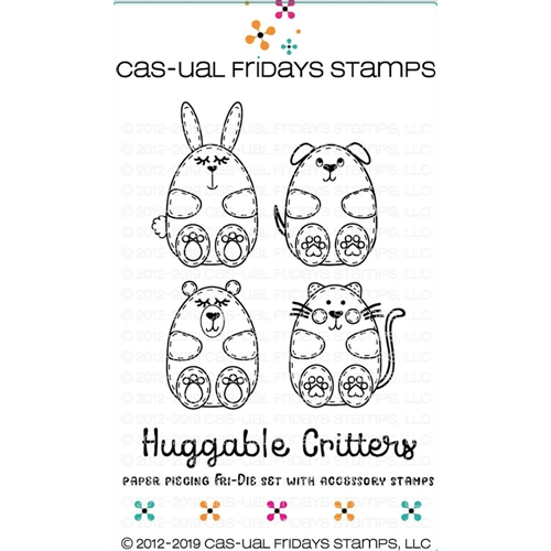 CAS-ual Fridays HUGGABLE CRITTERS Clear Stamps and Dies CFD1901 Preview Image