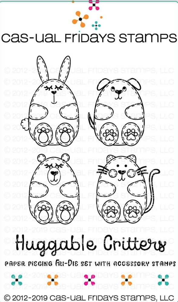 CAS-ual Fridays HUGGABLE CRITTERS Clear Stamps and Dies CFD1901 zoom image