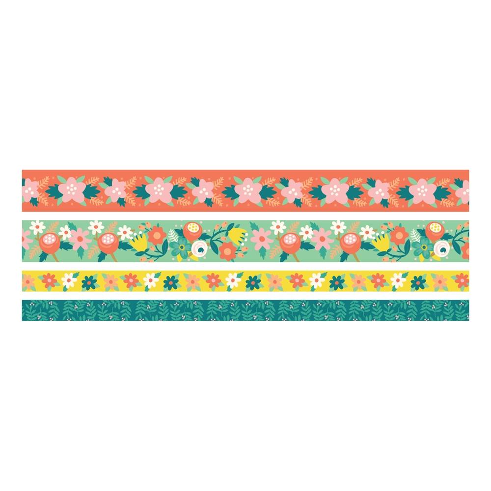 We R Memory Keepers BRIGHT FLORAL Washi Tape 660679 zoom image