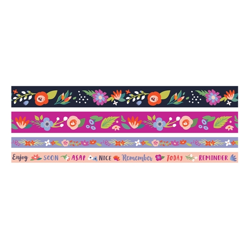 We R Memory Keepers DARK FLORAL Washi Tape 660652 Preview Image