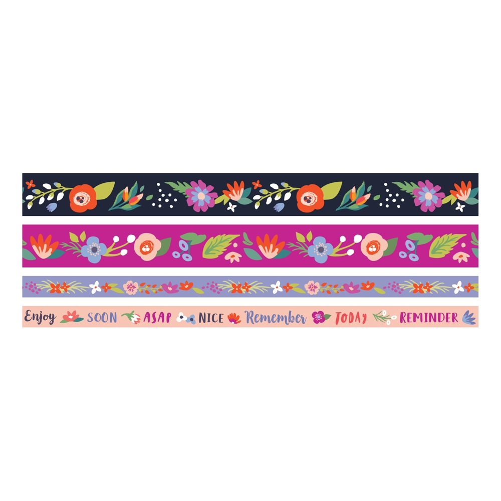 We R Memory Keepers DARK FLORAL Washi Tape 660652 zoom image