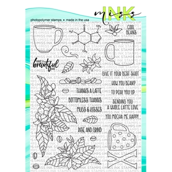 Miss Ink Stamps BREWTIFUL Clear Set 319st09