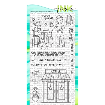 Miss Ink Stamps JAVA JOE'S Clear Set 319st06