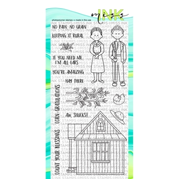 Miss Ink Stamps KEEPING IT RURAL Clear Set 319st07
