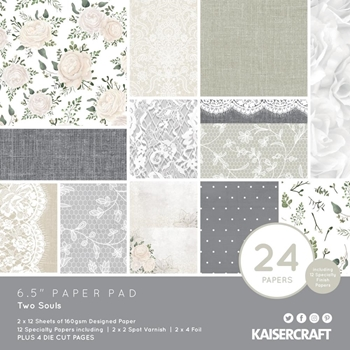 Kaisercraft TWO SOULS 6.5 Inch Paper Pad PP1065