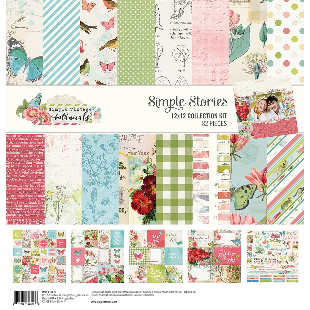 Simple Stories VINTAGE BOTANICALS 12 x 12 Collection Kit 10472 zoom image