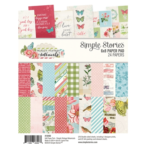Simple Stories VINTAGE BOTANICALS 6 x 8 Paper Pad 10490 Preview Image