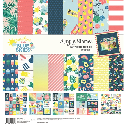 Simple Stories SUNSHINE AND BLUE SKIES 12 x 12 Collection Kit 10607 Preview Image