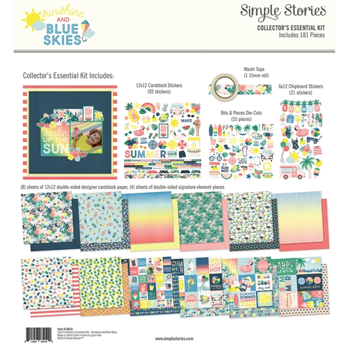 Simple Stories SUNSHINE AND BLUE SKIES 12 x 12 Collector's Essential Kit 10630 Preview Image