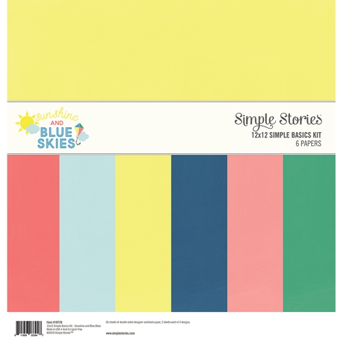 Simple Stories SUNSHINE AND BLUE SKIES 12 x 12 Basics Kit 10728 Preview Image