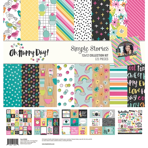 Simple Stories OH HAPPY DAY 12 x 12 Collection Kit 10660 Preview Image