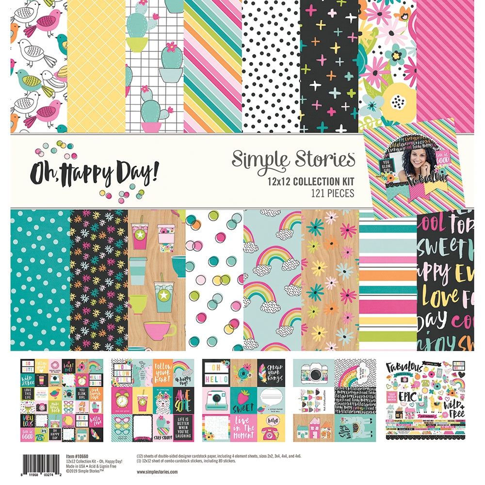 Simple Stories OH HAPPY DAY 12 x 12 Collection Kit 10660 zoom image