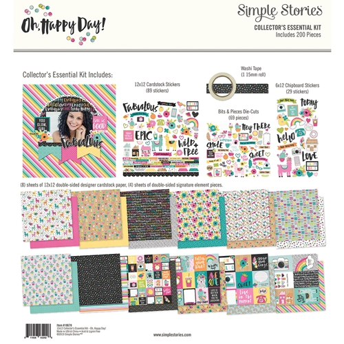 Simple Stories OH HAPPY DAY 12 x 12 Collector's Essential Kit 10678 Preview Image