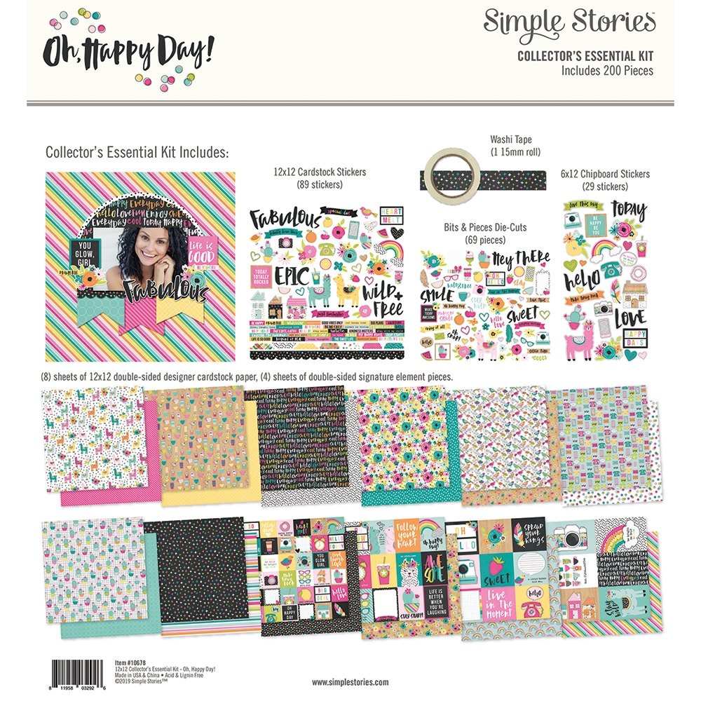 Simple Stories OH HAPPY DAY 12 x 12 Collector's Essential Kit 10678 zoom image