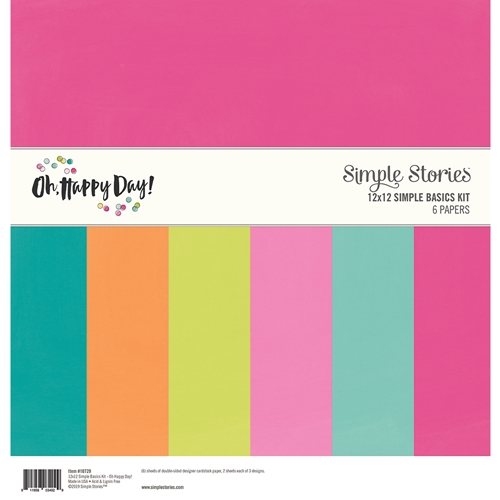 Simple Stories OH HAPPY DAY 12 x 12 Basics Kit 10729 Preview Image