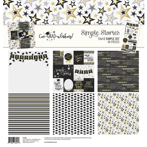 Simple Stories CON-GRAD-ULATIONS 12 x 12 Collection Kit 10704 Preview Image