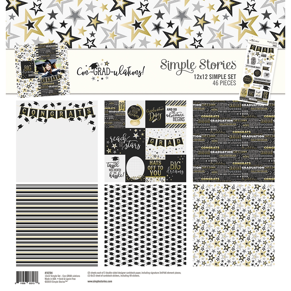 Simple Stories CON-GRAD-ULATIONS 12 x 12 Collection Kit 10704 zoom image