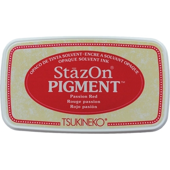 Tsukineko Stazon PASSION RED Pigment Ink Pad szpig021
